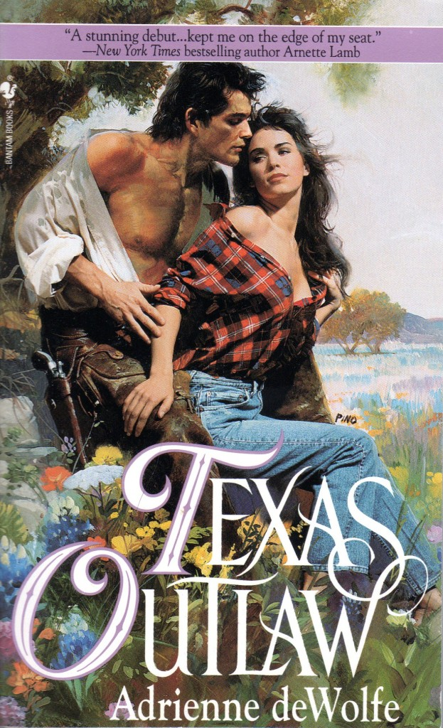 "Hot Romance Book Covers : Original cover art ""texas outlaw published by bantam"